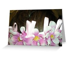 kaylee - wedding headpiece - a work of fine art  Greeting Card