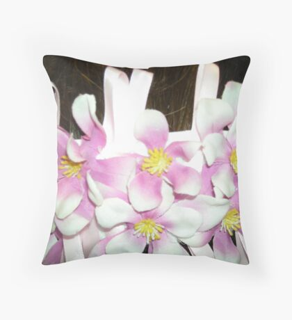 kaylee - wedding headpiece - up close  Throw Pillow