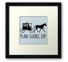 Plain Clothes Cop Framed Print