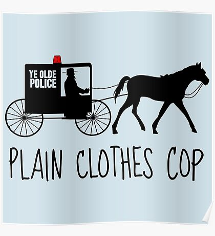 Plain Clothes Cop Poster