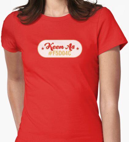 Keen As Mustard! Womens Fitted T-Shirt