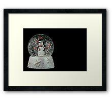 Christmas Snow Globe Framed Print