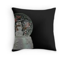 Christmas Snow Globe Throw Pillow