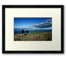 Seat with a view  Framed Print