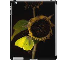 Impression with dried sunflower iPad Case/Skin