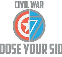 Marvel Civil War-Choose Your Side Version 2 by Bradley Carpenter
