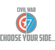 Marvel Civil War - Choose Your Side V.02 Photographic Print