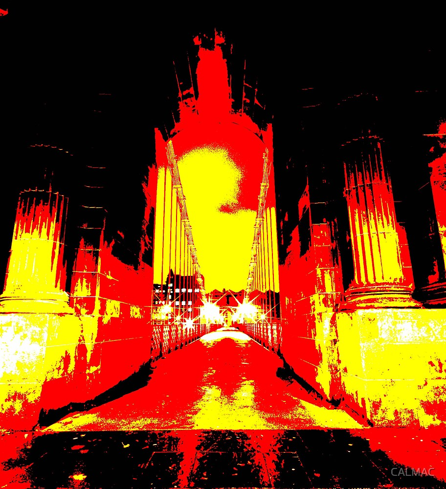 the red bridge by CALMAC