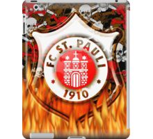 FC ST Pauli Flame and Skull Shield Design iPad Case/Skin