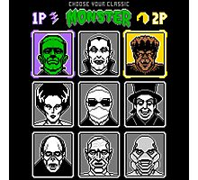 8 Bit Monsters Photographic Print