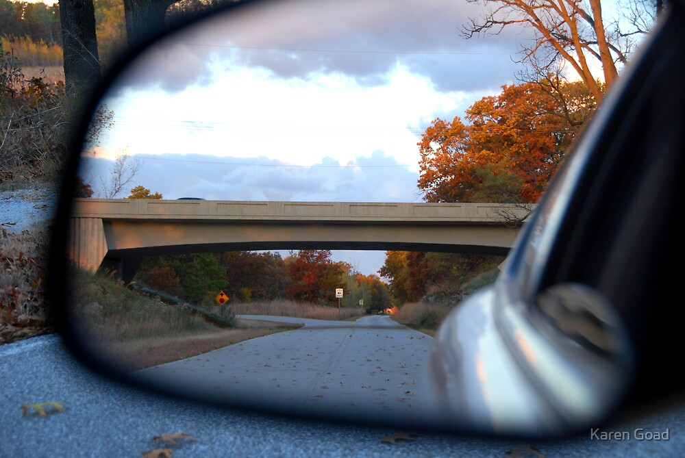 Rear View Autumn Colors by Karen Goad