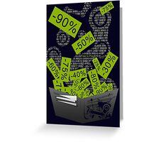 Steam Sales : Empty wallet season Greeting Card
