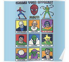 8 Bit Spider Fighter Poster