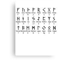 Elder FUTHARK Alphabet Canvas Print