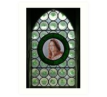 window in a French chateau Art Print