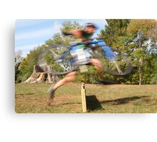 Running The Barriers Canvas Print