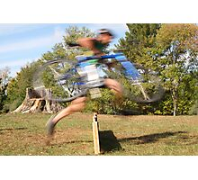 Running The Barriers Photographic Print