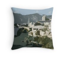 Mostar Bridge Throw Pillow