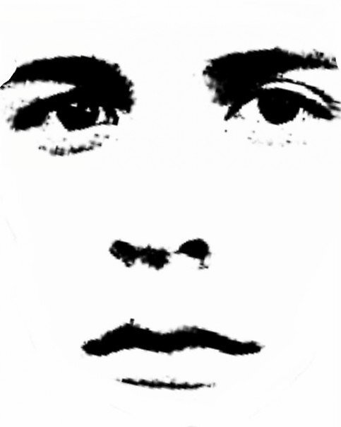 black on white face by joeld