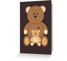 TWO TEDDY BEARS Greeting Card