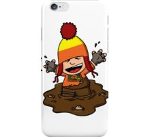 Makin' mudpies! iPhone Case/Skin