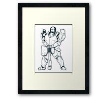 Ample Adventurer - Half-Orc Paladin Framed Print