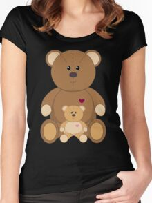 TWO TEDDY BEARS Women's Fitted Scoop T-Shirt