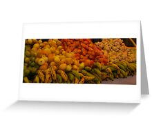 Grocery stand Greeting Card