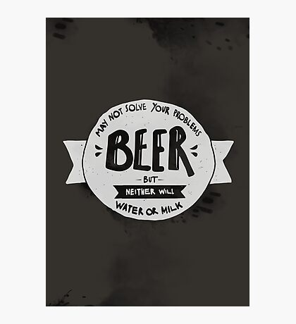 BEER Photographic Print