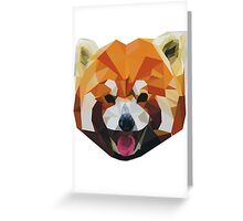 Red Panda Tee Shirt Greeting Card