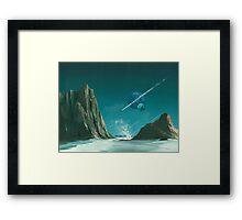UPON A COMET IT COMES Framed Print