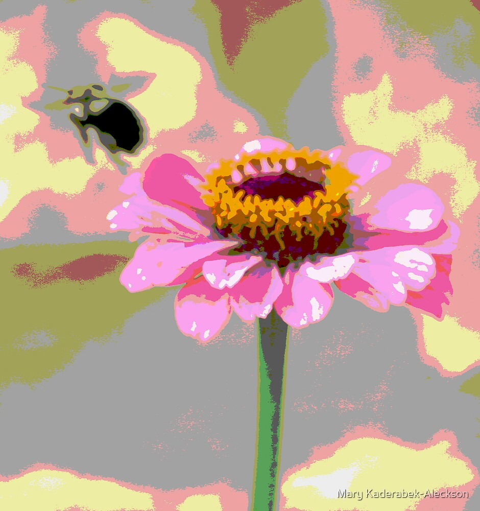 Bee and Zinnia by Mary Kaderabek-Aleckson