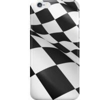checked flag iPhone Case/Skin
