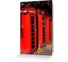 Red Boxes Greeting Card