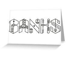 Banks Singer Greeting Card