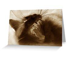 Furry Viper Greeting Card