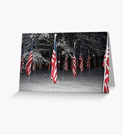 American Flag 2 Greeting Card