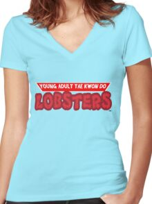 Young Adult Tae Kwon Do Lobsters Women's Fitted V-Neck T-Shirt