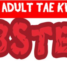 Young Adult Tae Kwon Do Lobsters Sticker