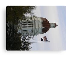 Small town, town hall Canvas Print