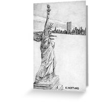 """""""The Statue of Liberty""""  Greeting Card"""