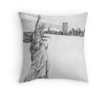 """The Statue of Liberty""  Throw Pillow"