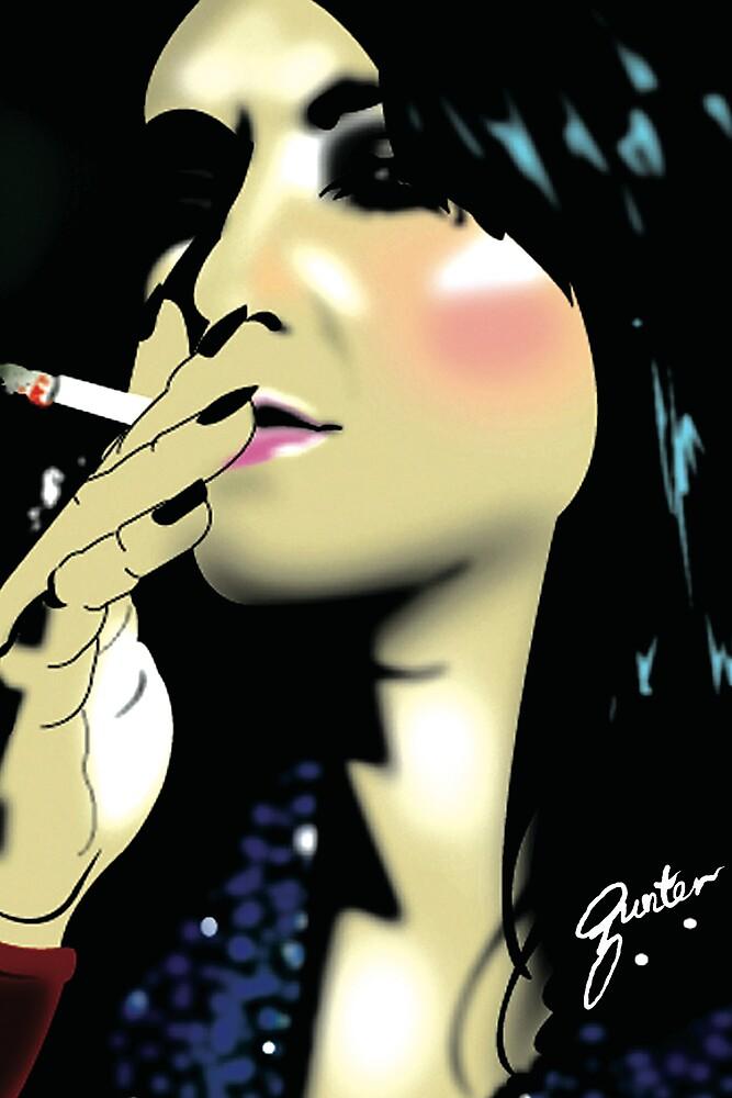 Sexy smoker by Gunter Photography