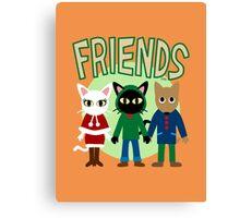 Whim's Friends Canvas Print