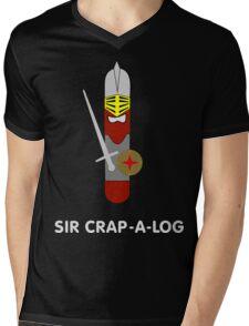 Sir Crap-a-log Mens V-Neck T-Shirt