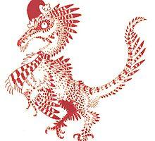 Christmas Velociraptor by Zagreus