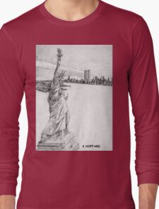 """""""The Statue of Liberty""""  Long Sleeve T-Shirt"""