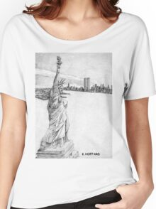 """The Statue of Liberty""  Women's Relaxed Fit T-Shirt"
