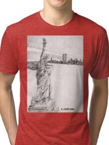 """""""The Statue of Liberty""""  Tri-blend T-Shirt"""