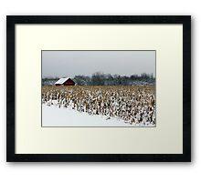 Thanksgiving Snow Framed Print